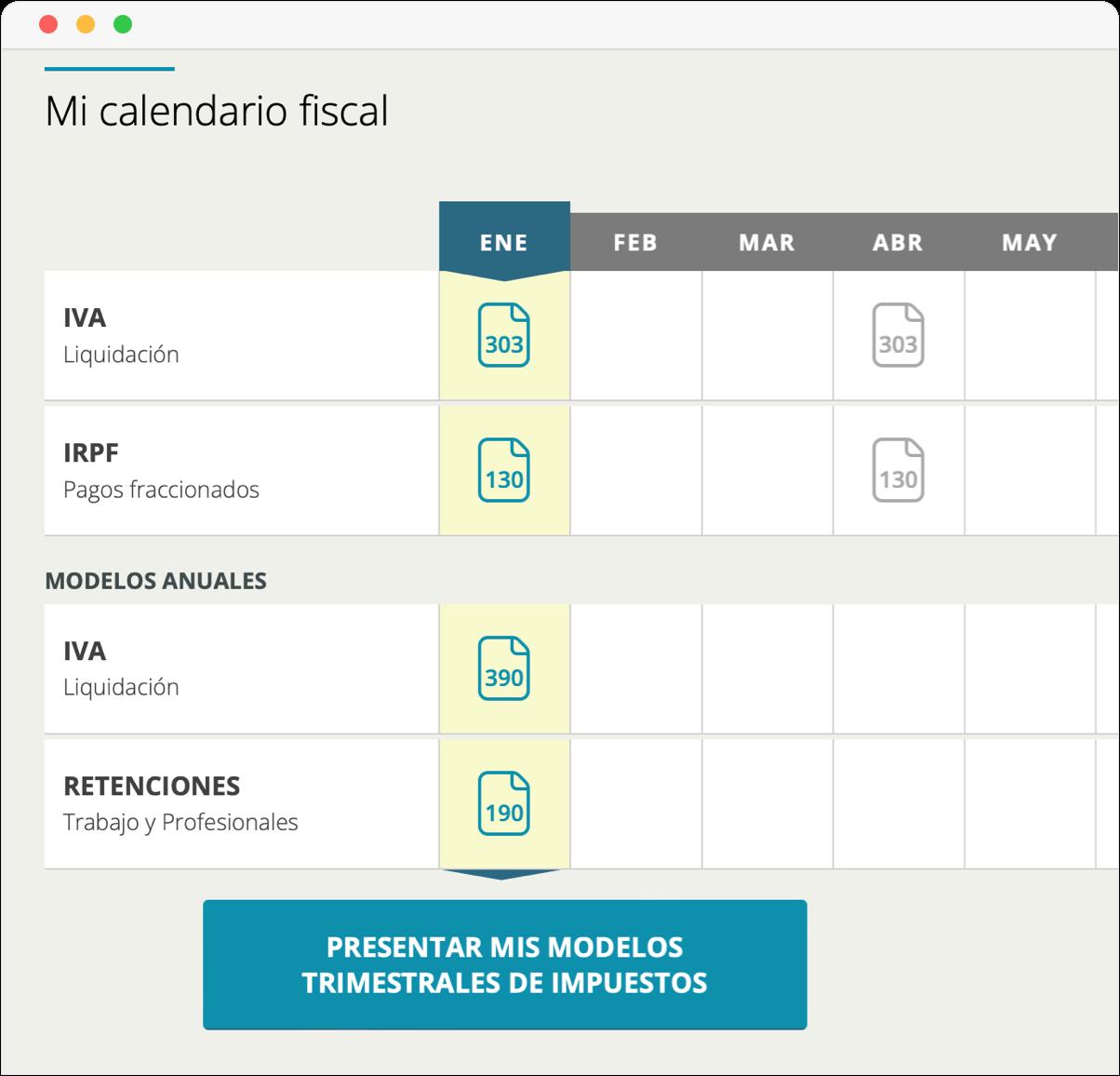 Informes y modelos de impuestos en Cuéntica