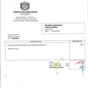 ¿Cómo registrar la factura de un profesional que tiene retención?