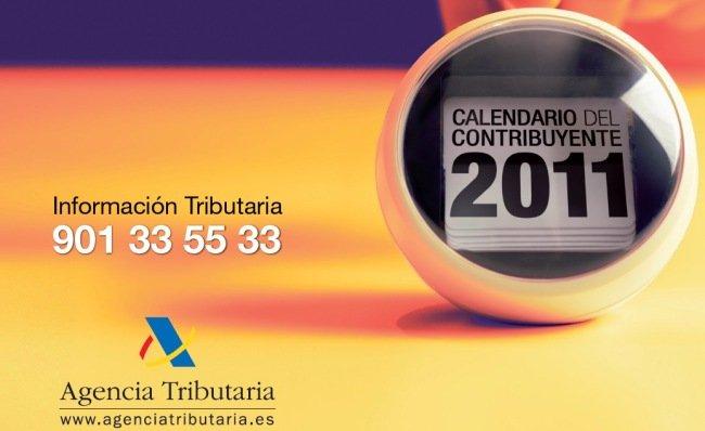 Calendario del Contribuyente de Hacienda 2011