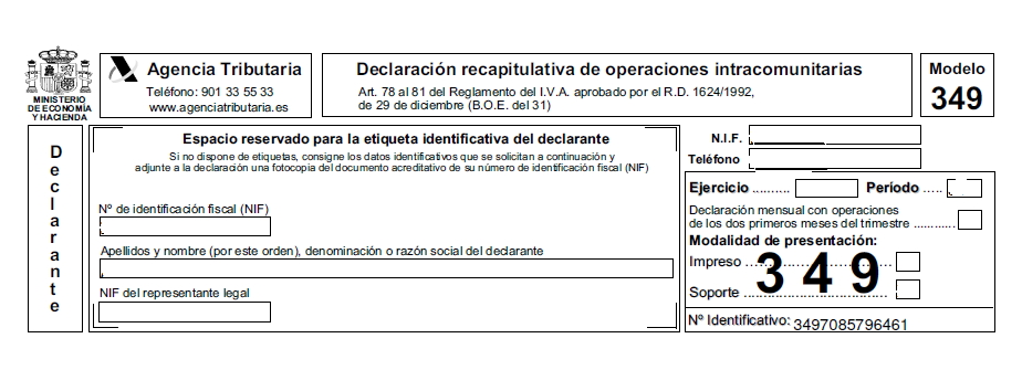 DATOS IDENTIFICATIVOS MOD349