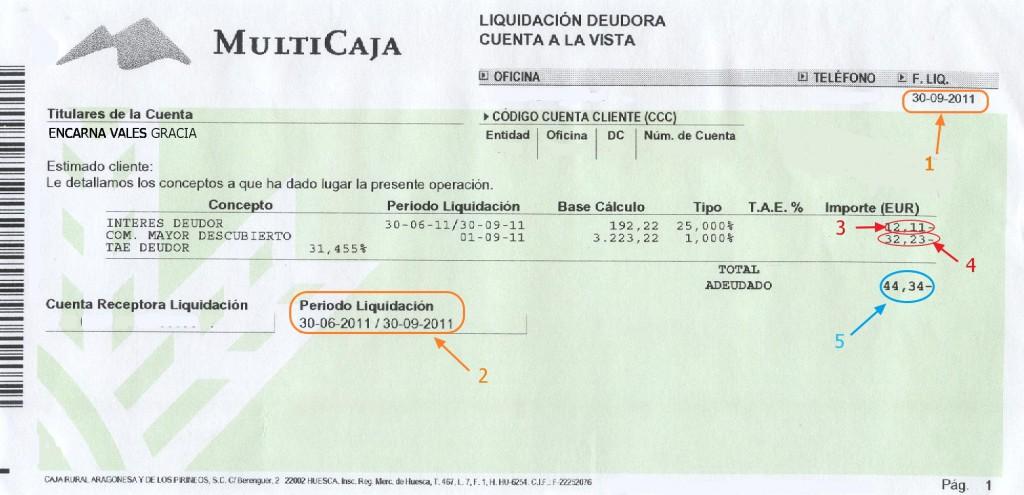 Ejemplo liquidación de intereses deudores