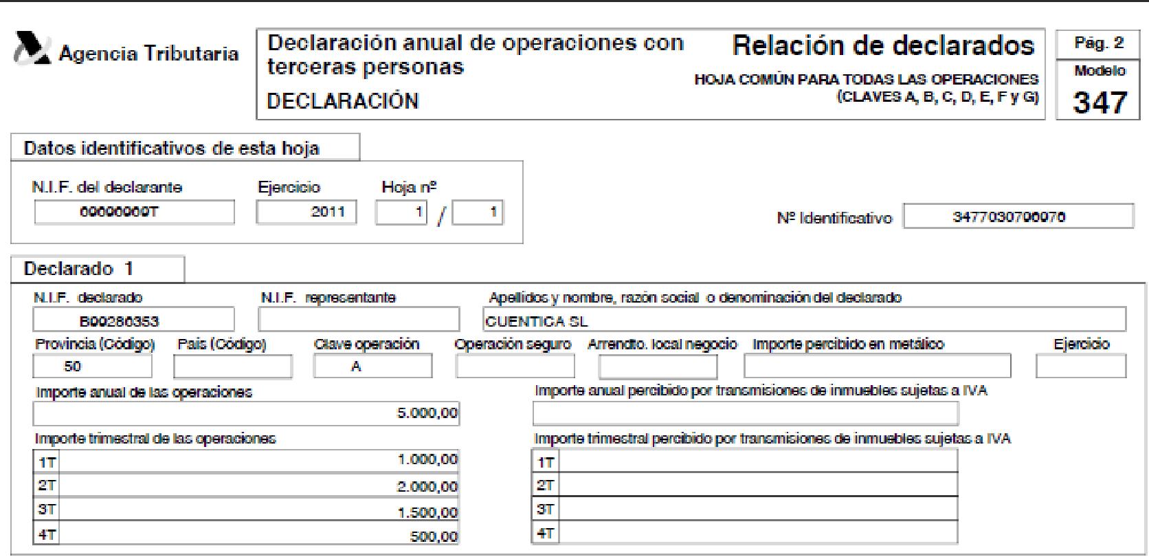 qué es el modelo 347 declaración anual de operaciones con terceros