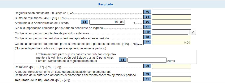 Modelo 303: Resultado IVA
