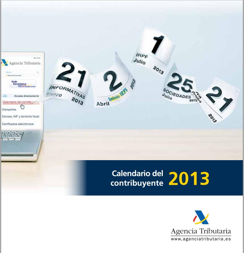 Imagen del Calendario del Contribuyente 2013