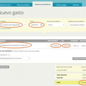 Cómo registrar el gasto de la cuota de autónomo en Cuéntica