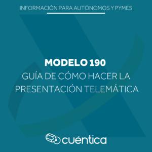 Guía para presentar el modelo 190 - Cuentica