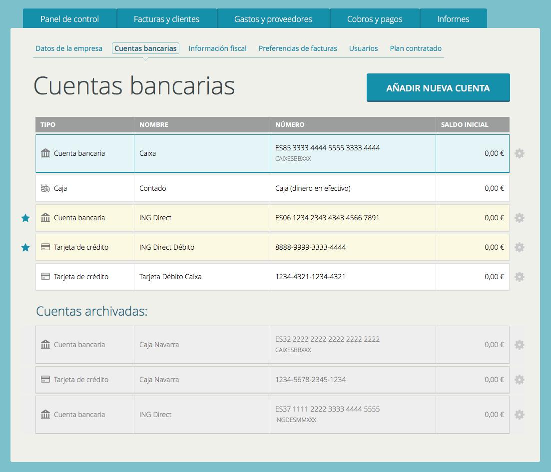 Captura de cuentas bancarias en Cuéntica