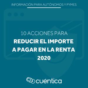 acciones para reducir impuestos renta 2020