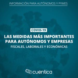 Medidas económicas para autónomos y PYMES por el Coronavirus
