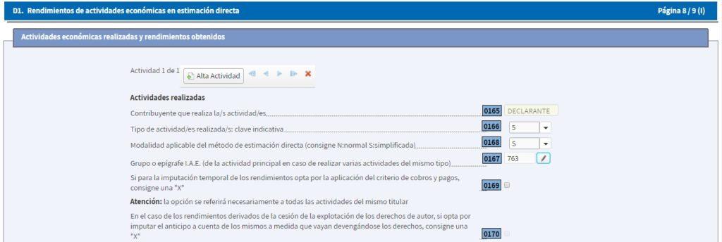 Datos identificativos en la Declaración IRPF de la Renta