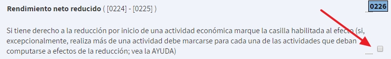 Reducción por inicio de actividad - Declaración IRPF de la renta como autónomo