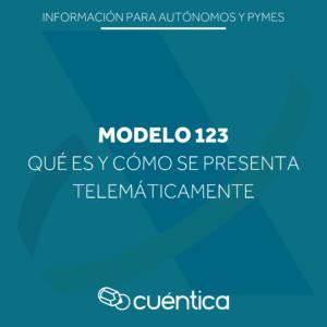Modelo 123 de Hacienda, qué es y como se presenta