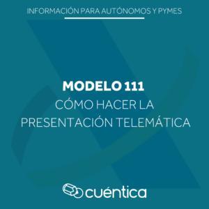 Como presentar modelo 111 en Hacienda